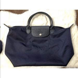 Longchamp Navy Le Pliage Crossbody
